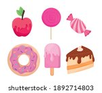 sweet food symbol set design ...   Shutterstock .eps vector #1892714803