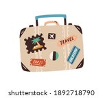 suitcase decorated with...   Shutterstock .eps vector #1892718790