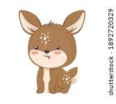Kawaii Reindeer Animal Cartoon...