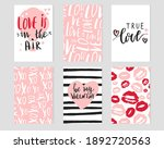 set of romantic greeting cards... | Shutterstock .eps vector #1892720563