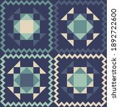 shapes made of triangles. aztec ... | Shutterstock .eps vector #1892722600
