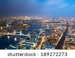aerial view of london towards... | Shutterstock . vector #189272273