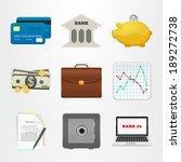 icons bank. set of vector... | Shutterstock .eps vector #189272738