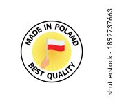 made in poland vector stamp.... | Shutterstock .eps vector #1892737663