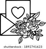 floral envelope valentine is...   Shutterstock .eps vector #1892741623