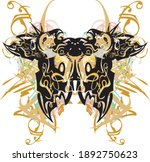 colorful ornamental butterfly... | Shutterstock .eps vector #1892750623