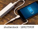 phone charging with energy bank.... | Shutterstock . vector #189275939