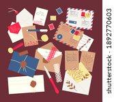 a set of envelopes  letters ...   Shutterstock .eps vector #1892770603