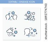 disease spread line icons set....   Shutterstock .eps vector #1892774743