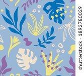 tropical leaves seamless... | Shutterstock .eps vector #1892780029