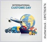 international customs day....   Shutterstock .eps vector #1892782876