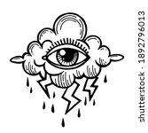 eye of providence. masonic... | Shutterstock .eps vector #1892796013