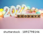goodbye 2022 word alphabet... | Shutterstock . vector #1892798146