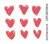 doodle hearts  hand drawn love... | Shutterstock .eps vector #1892803846