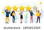 customer leave review  give... | Shutterstock .eps vector #1892812369