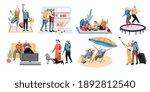 active senior grandparent... | Shutterstock .eps vector #1892812540