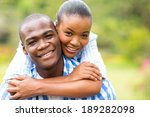 close up portrait of loving... | Shutterstock . vector #189282098