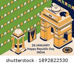 26th of january india republic... | Shutterstock .eps vector #1892822530