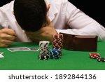 Devastated Gambler Man Losing A ...
