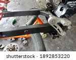 Motorcycle Chassis Under Repair ...