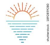 sunrise sunset over the sea... | Shutterstock .eps vector #1892859280