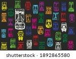 maya's masks. colorful... | Shutterstock .eps vector #1892865580