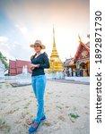 Asian Woman With Wat Pong Sanuk ...