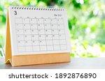 March 2021 Calendar Desk For...