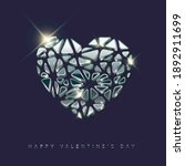silver happy valentines day... | Shutterstock .eps vector #1892911699