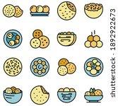 falafel icons set. outline set... | Shutterstock .eps vector #1892922673