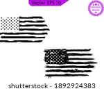 usa flag. distressed american... | Shutterstock .eps vector #1892924383