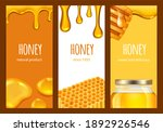 honey flyers. sweet realistic... | Shutterstock . vector #1892926546