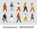 crowd of young and elderly men... | Shutterstock .eps vector #1892928499