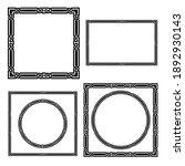 set of black frames  celtic ... | Shutterstock .eps vector #1892930143