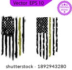 American Flag  Usa Distressed...
