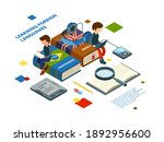 studying foreign languages....   Shutterstock . vector #1892956600