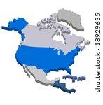 3d vector map of northern... | Shutterstock .eps vector #18929635