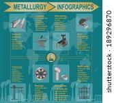 metallurgical industry info... | Shutterstock .eps vector #189296870