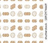 cookie seamless pattern....   Shutterstock .eps vector #1892974669