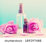 bottle with aromatic oil and... | Shutterstock . vector #189297488