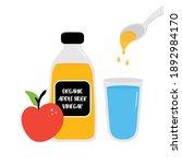 bottle of apple cider vinegar...   Shutterstock .eps vector #1892984170