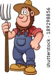 cartoon farmer. vector clip art ... | Shutterstock .eps vector #189298856