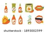 hot chili pepper sauces symbol... | Shutterstock .eps vector #1893002599