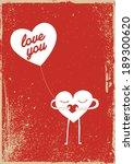 love character vector poster... | Shutterstock .eps vector #189300620