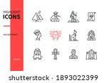 ancient egypt   modern line... | Shutterstock .eps vector #1893022399