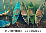 group of colorful rowing boat... | Shutterstock . vector #189303818