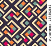 seamless vector geometric... | Shutterstock .eps vector #189303863
