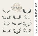 antlers. design elements of... | Shutterstock .eps vector #1893051433