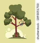 do not cut branch you sitting... | Shutterstock .eps vector #1893051703