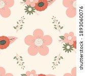vector retro vintage floral...   Shutterstock .eps vector #1893060076